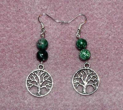Silver Tree of Life Earrings, Celtic, Pagan, Wicca