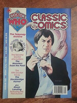 Doctor Who Magazine Classic Comics Issue 22 Vintage Dwm Wheel In Space Telesnaps