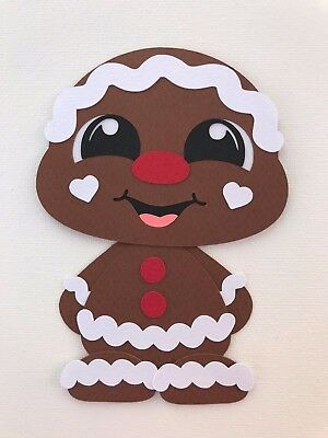 Gingerbread Boy - fully assembled die cut / paper piecing