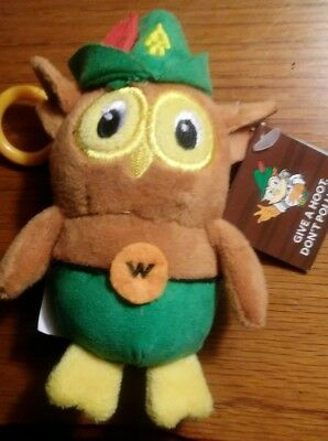 """Woodsy Owl DOLL.  GIVE A HOOT DON'T POLLUTE  8"""" WOODSY DOLL ."""