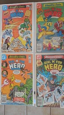 ADVENTURE COMICS  Dial H for Hero #479-483, 486(2), 488-490 VG/F