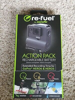 Re-Fuel - 9 Hour Extended Rechargeable Battery for GoPro HERO6 & HERO5 New