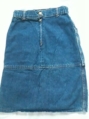 "Vintage ""Pretty Please"" Girls Denim Jean Skirt Size 7"