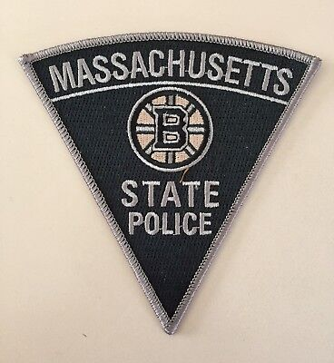 Massachusetts State Police Boston Bruins Subdued Patch Ma Mass
