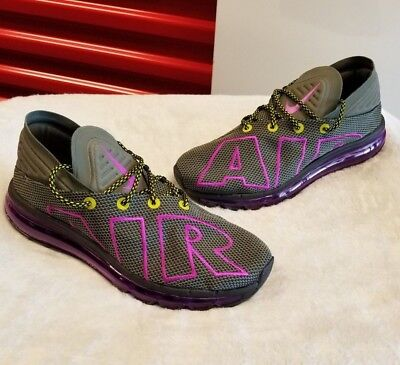 NIKE AIR MAX FLAIR UPTEMPO RUNNING SHOES (GREYVIOLET) AH9711 001 NEW SIZE 11.5