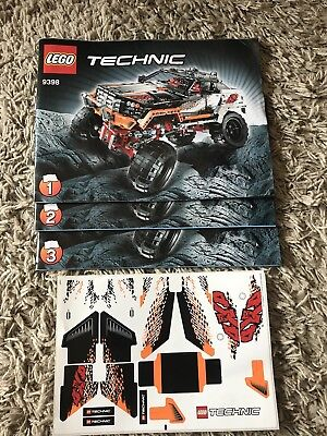 Lego Technic 9398 Crawler Building Instructions Stickers Eur 14