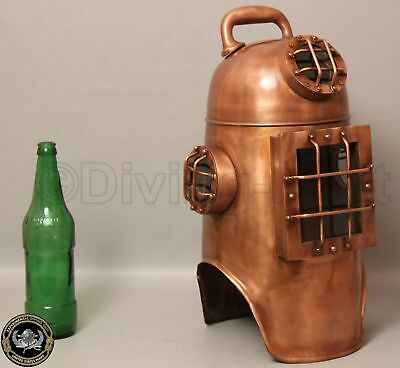 Antique Diving Divers Helmet solid Steel Old style Nautical Rare Vintage Helmet