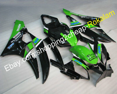 For Yamaha YZF-R6 YZF 600 06 07 YZF600 R6 2006 2007 Green Black ABS Fairing Kits