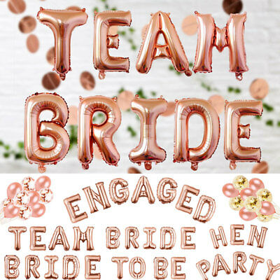 Bride To Be Team Bride Hen Nigh Party Engaged Foil Latex Helium Balloons Bunting