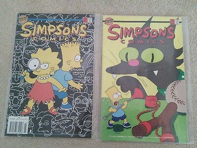 Two Simpsons Bongo Comics #3 and #8 VFN / NM
