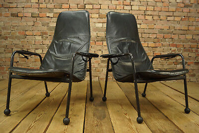 60er Leder Sessel Danish Modern Lounge Easy Chair Vintage Westnofa