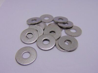 M8 Large Diameter Thick Flat Washers A2 Stainless Steel (Qty 16)