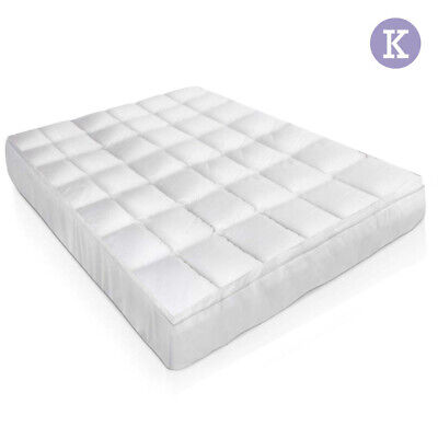 Giselle Bedding King Size Duck Feather & Down Mattress Topper