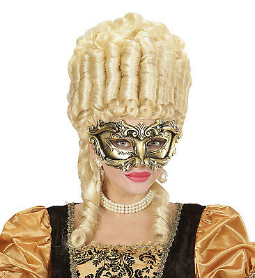 Venetian Mask Masquerade Ball Men Ladies Bronze Gold Masque Costume Fancy Dress
