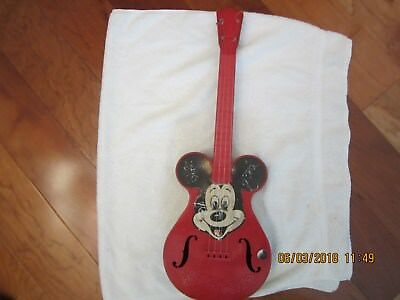 Mousegetar Vintage 1950's Mattell Disney Mickey Mouse