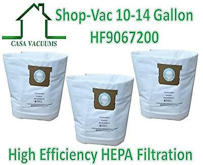 CASA VACUUMS replacement for Shop-Vac 9067200 10-14 Gallon Type I + Type F