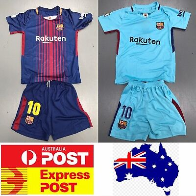 Messi's Barcelona Soccer club jersey, kids size or adult size