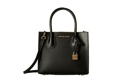 736af36e9acbd6 MICHAEL KORS Mercer Perforated Leather Crossbody Black Bag with Dustbag BNWT