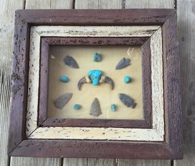 Native American Arrowhead Display Case