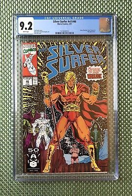 SELLER AWAY - Silver Surfer #46 - CGC 9.2 - Adam Warlock Returns