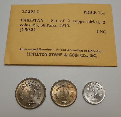 Coins Pakistan 1975: Littleton Stamp & Coin Co