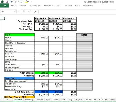 Best Personal Household Budget - Microsoft Windows Excel