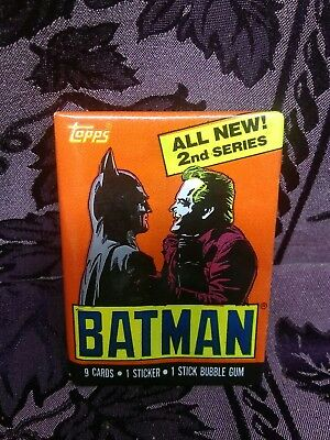 1989 Topps Batman The Movie 9 Trading Cards Series 1 Sticker Complete