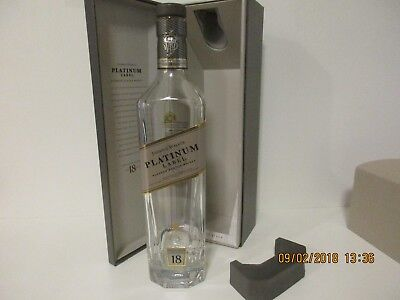 Johnnie Walker Platinum Label Scotch Whiskey EMPTY BOTTLE, 750ml Bottle