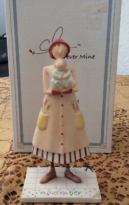 Demdaco ,Claire ,Forever Mine , Mother And Baby Figurine For November