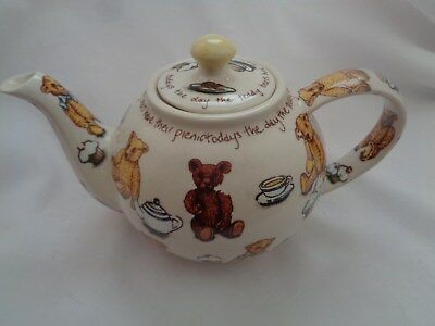 China & Dinnerware Vintage Cardew Design Tea Shop Teapot Signed Vgc