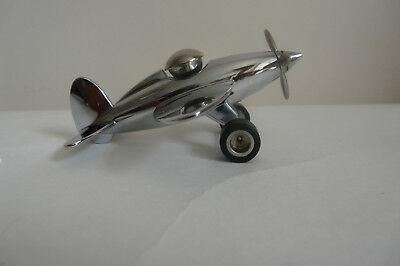Troika Plane Paperweight Magnetic Clip Holder Executive Toy