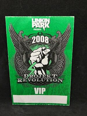 Linkin Park Projekt Revolution Tour 2008 VIP Cloth Pass Chester Bennington