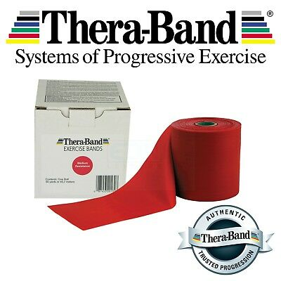 Red Theraband Medium Resistance Bands Thera Band Exercise Fitness 1 2 3 4 5 10m