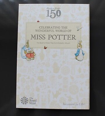 2016 Official Royal Mint Beatrix Potter 150 years 50p Coin Collector Album