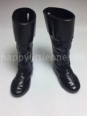 Ken Doll Army Man Military Soldier Boots Shoes Barbie Friend Black Brand New