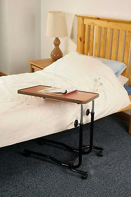 NRS Healthcare M15691 Portable Over Bed or Chair, Adjustable Table with Wheels