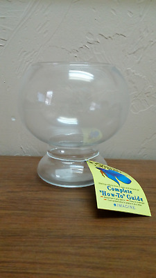 1 1/2 Quart Betta Fish Bowl with attached Pedestal, Great for Candy Bowl too