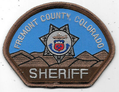 """Police Patch: Fremont County, Colorado Sheriff Patch Measures 4"""" X 5"""""""