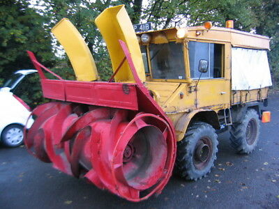 Mercedes Unimog 400 With Schmidt Snow Blower, Direct From Council Reserve Stores