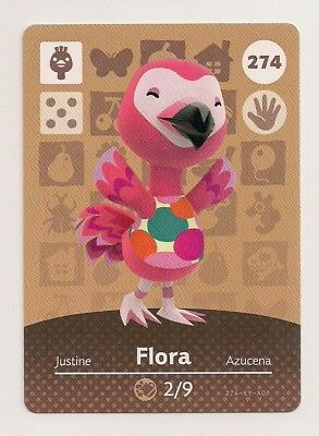 Animal Crossing amiibo Card: Flora 274 (Series 3) Ostrich New Leaf NA