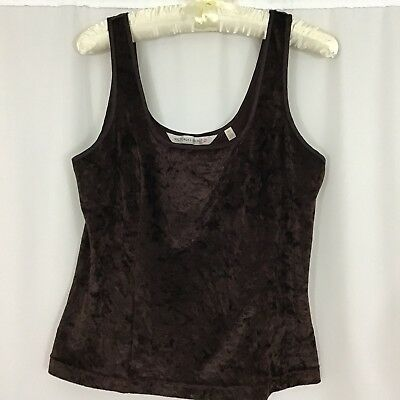 Victoria Secret Women's Size Large brown crushed velvet cami tank top