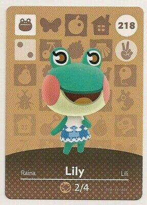 Animal Crossing amiibo Card: Lily 218 (Series 3) Frog New Leaf Horizons Popular
