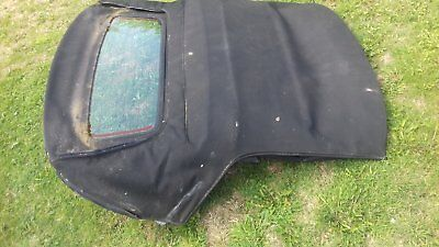 Mgf & Mg Tf Black Soft Top Roof And Rear Window 1995-2005