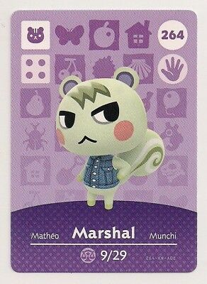 Animal Crossing amiibo Card: Marshal 264 (Series 3) Squirrel New Leaf NA Popular