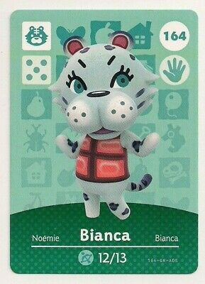 Animal Crossing amiibo Card: Bianca 164 (Series 2) Tiger New Leaf NA