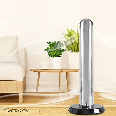Air Purifier Tower 90SQM Portable Plasma Ionizer Air Smoke Dust Filter Silver