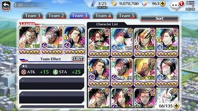 Bleach Brave Souls account with TYBW Retsu, Yhwach, and many more! Has 1000k orb