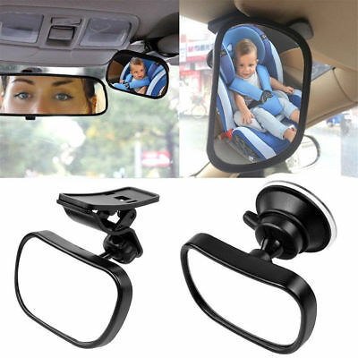 Pro Baby Car Back Seat Mirror Safety View Rear Facing Infant Backseat Tool Black