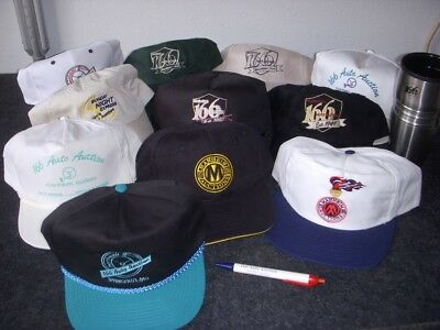 Manheim 166 Auto Auction Truckers Hats - Lot Of 11 - Travel Cup & Pen