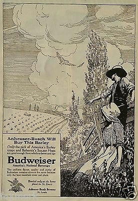 Anheuser-Busch (Budweiser) June 1913 Original Advertisement with Drawing...